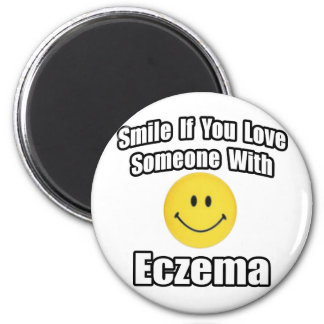 Smile If You Love Someone With Eczema Refrigerator Magnet