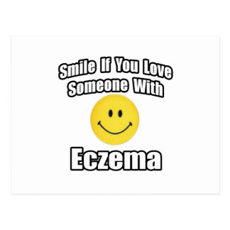Smile If You Love Someone With Eczema Postcard