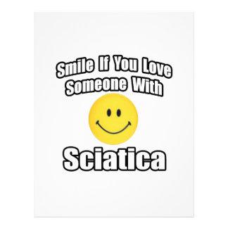 Smile If You Love Someone With Sciatica Letterhead Design