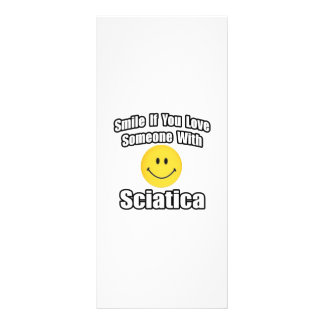 Smile If You Love Someone With Sciatica Rack Cards
