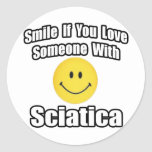 Smile If You Love Someone With Sciatica Stickers