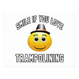 Smile if you love Trampolining. Postcard