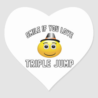 Smile if you love Triple jump. Heart Sticker