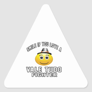 Smile if you love VALE TUDO Fighter Triangle Stickers