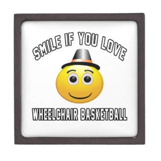 Smile if you love Wheelchair Basketball. Premium Trinket Box