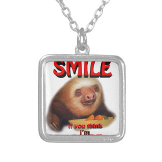 smile if you think i'm cute. personalized necklace