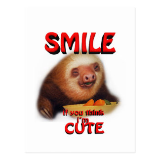 smile if you think i'm cute. postcard
