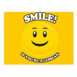 SMILE IF YOU'RE A LESBIAN POSTCARD