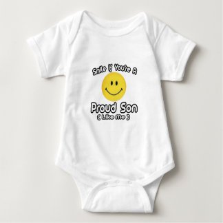 Smile If You're a Proud Son (Like Me) Baby Bodysuit