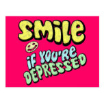 Smile if You're Depressed Post Cards