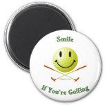 Smile If You're Golfing Fridge Magnets