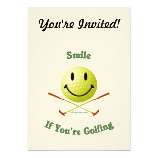 Smile If You're Golfing 5x7 Paper Invitation Card