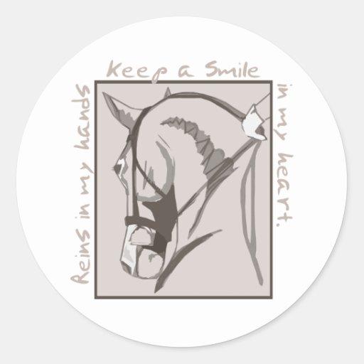 Smile In My Heart Round Sticker
