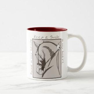 Smile In My Heart Two-Tone Coffee Mug