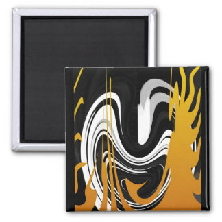Smile in the Dancing Flame 2 Inch Square Magnet