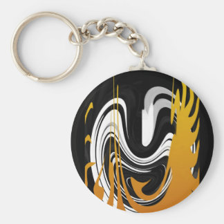 Smile in the Dancing Flame Basic Round Button Keychain