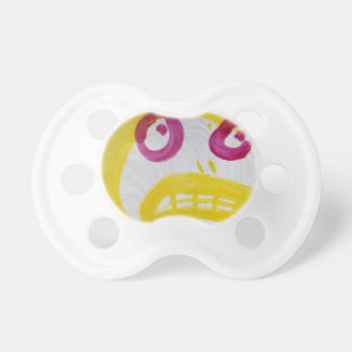 Smile In Yellow With Fushia Eyes Pacifier
