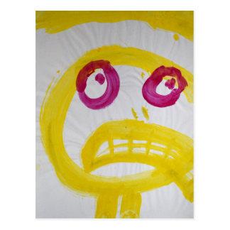 Smile In Yellow With Fushia Eyes Postcard