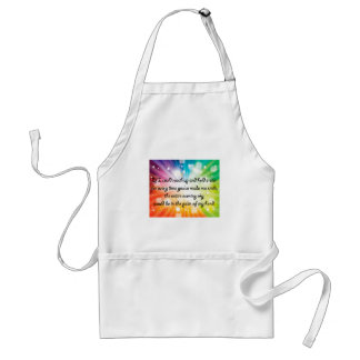 Smile Inspirational Happy Quote Star Rainbow Adult Apron