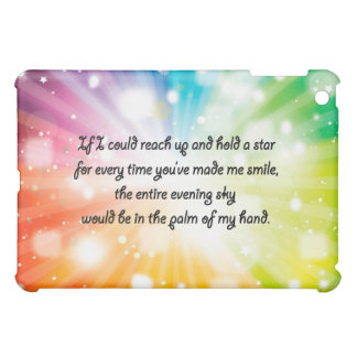 Smile Inspirational Happy Quote Star Rainbow Case For The iPad Mini