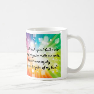 Smile Inspirational Happy Quote Star Rainbow Classic White Coffee Mug