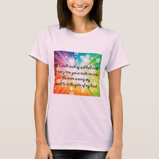 Smile Inspirational Happy Quote Star Rainbow T-Shirt