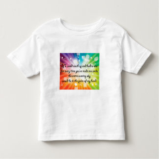 Smile Inspirational Happy Quote Star Rainbow Toddler T-shirt