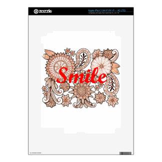 Smile iPad 3 Decal