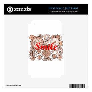Smile iPod Touch 4G Skins