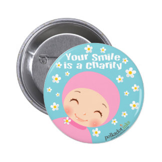 Smile is A Charity Badge Pins