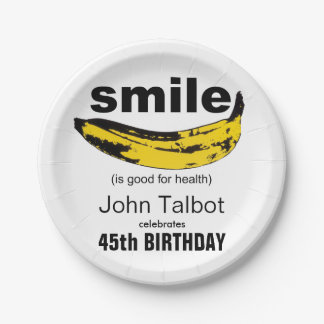 Smile is good - 45th Birthday Party Paper Plates 7 Inch Paper Plate