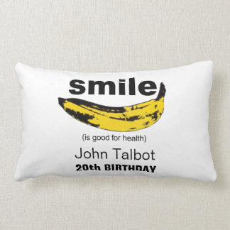 Smile is good for health 20th birthday Pillow