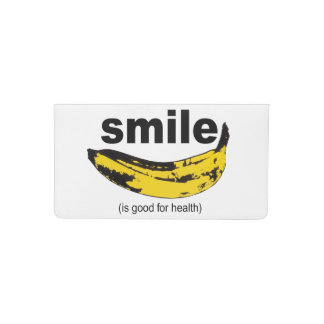 Smile is good for health Checkbook Cover