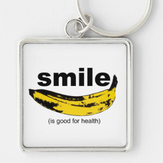 SMILE is good for health - Keychain
