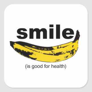 SMILE is good for health Square Sticker