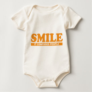 smile it confuses people baby one-z baby bodysuit