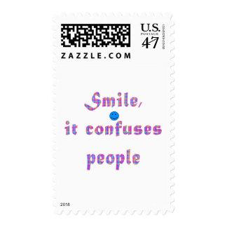 Smile It Confuses People Postage