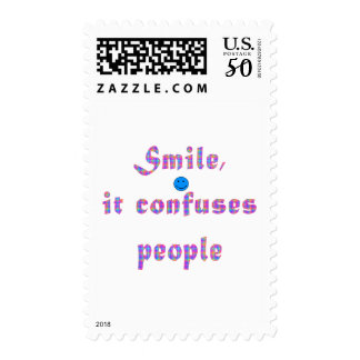 Smile It Confuses People Postage