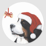 Smile It's Christmas Classic Round Sticker