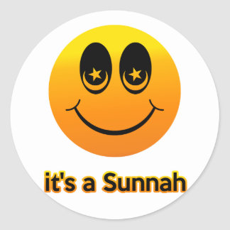 Smile it's a Sunnah Classic Round Sticker