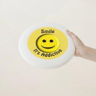 Smile It's Addictive Wham-O Frisbee