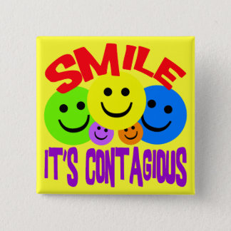SMILE IT'S CONTAGIOUS BUTTON