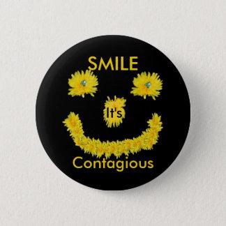 Smile it's Contagious Dandelion Button