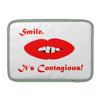 Smile, It's Contagious MacBook Sleeves