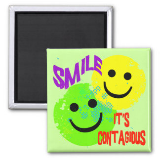 SMILE IT'S CONTAGIOUS REFRIGERATOR MAGNET