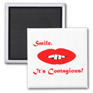 Smile, It's Contagious Refrigerator Magnets