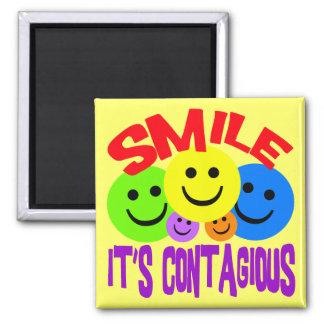 SMILE IT'S CONTAGIOUS FRIDGE MAGNETS