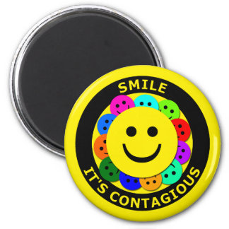SMILE IT'S CONTAGIOUS MAGNETS