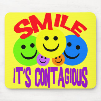 SMILE IT'S CONTAGIOUS MOUSE PAD