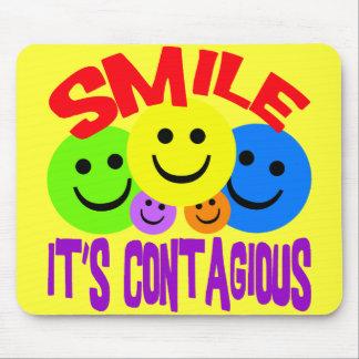 SMILE IT'S CONTAGIOUS MOUSEPADS